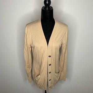 Ralph Lauren Tan Button Front Cardigan Large